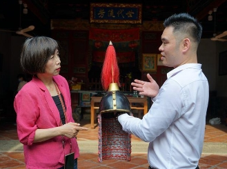 台湾知名媒体人黄智贤对话黄廷将军后人
